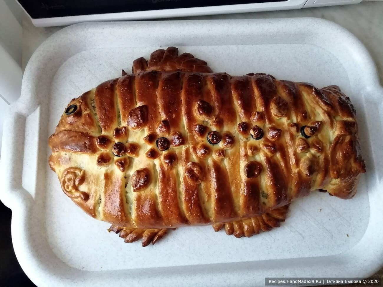 Рыбный пирог из венского теста выпекать в течение 30-35 минут в хорошо разогретой духовке