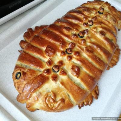 Пирог из песочно-дрожжевого теста – пошаговый кулинарный рецепт с фото