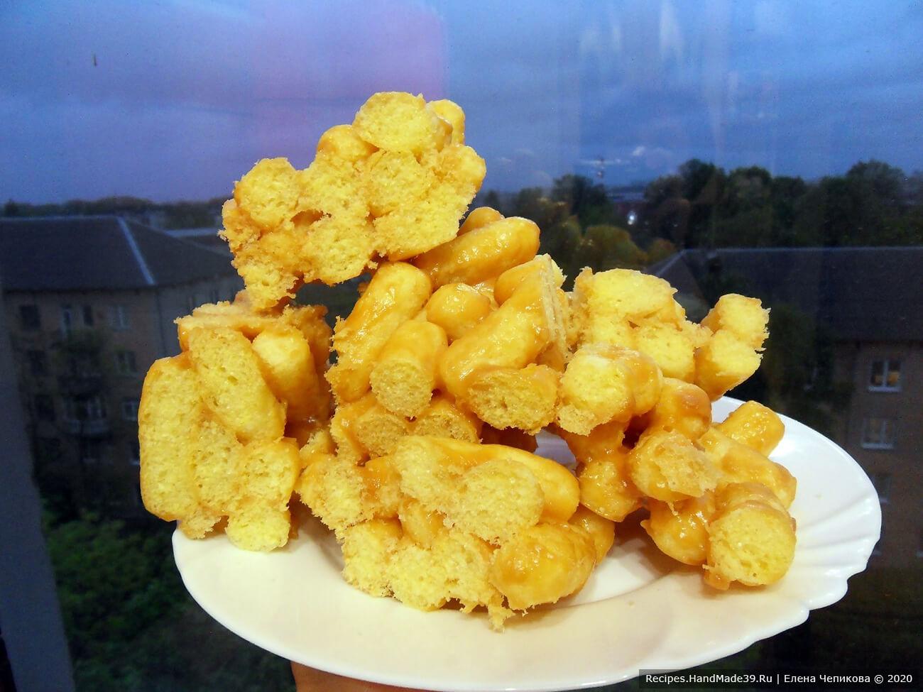 Чак-чак из кукурузных палочек – фото шаг 7