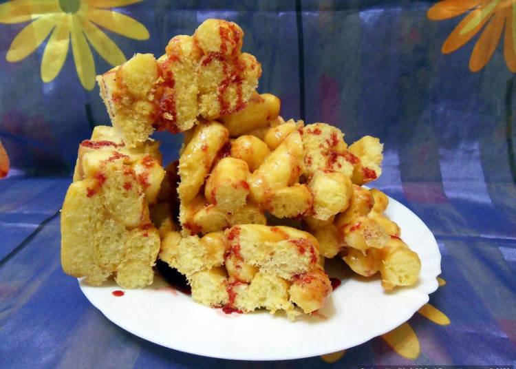 Чак-чак из кукурузных палочек и ирисок – пошаговый рецепт с фото
