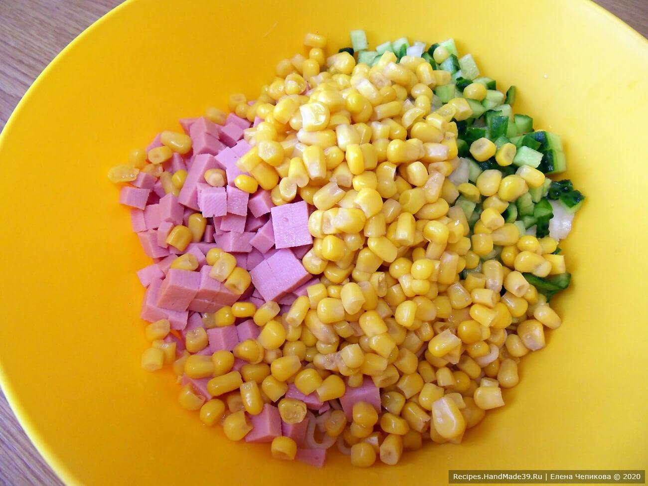 Салат с лапшой быстрого приготовления - фото шаг 8
