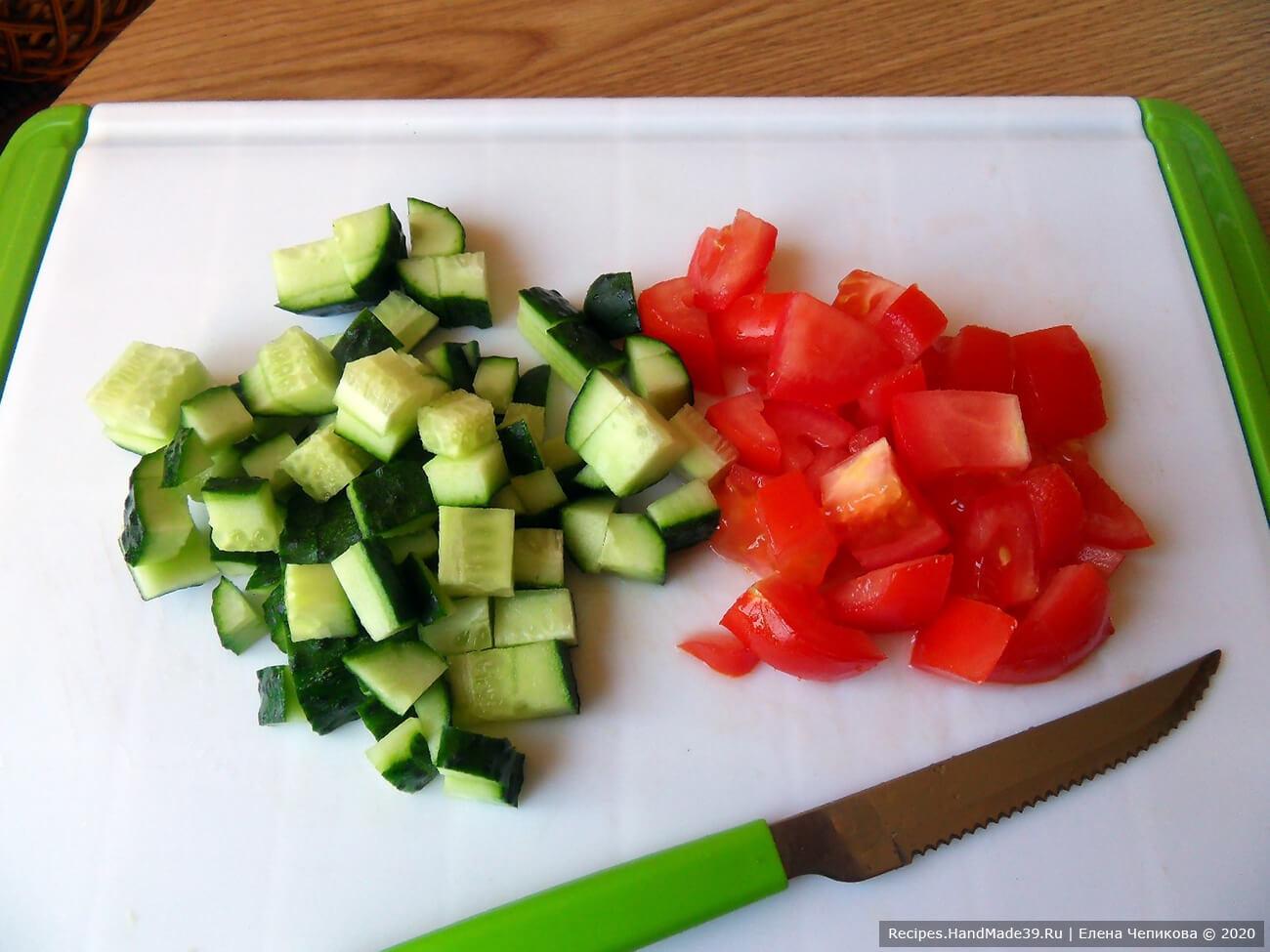 Овощной смузи с кефиром – фото шаг 1