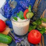 Смузи с овощами и зеленью на кефире