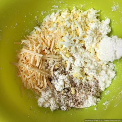 Хачапури по-аджарски с сулугуни и творогом – фото шаг 8