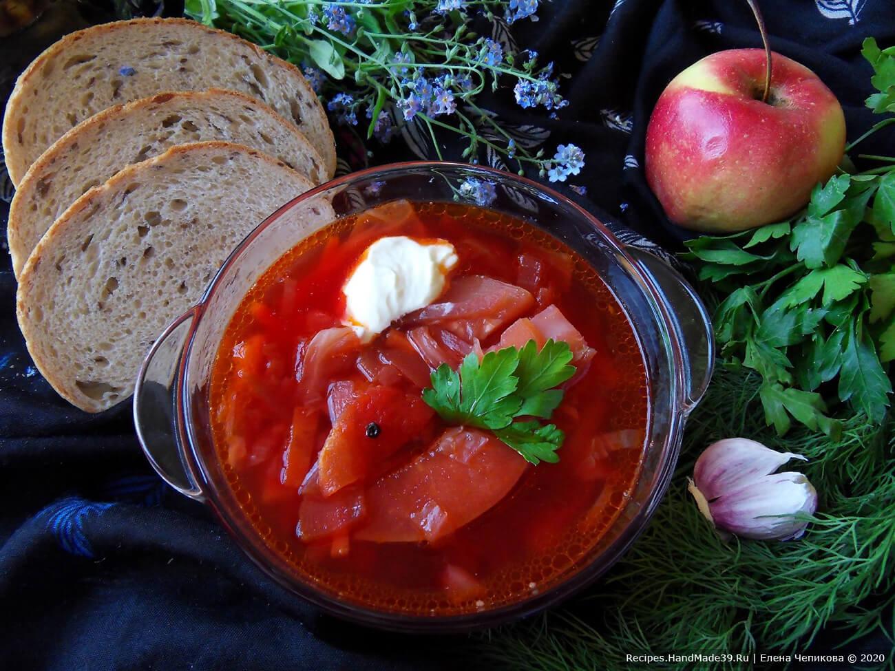 Как приготовить черниговский борщ постный (вегетарианский) с фасолью, кабачком. яблоком – пошаговый рецепт с фото