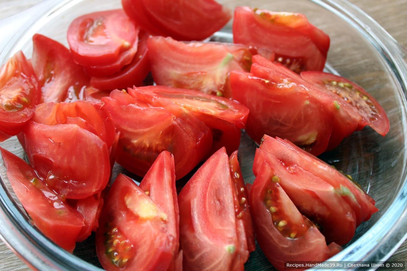 Салат с куриной печенью и помидорами – фото шаг 6