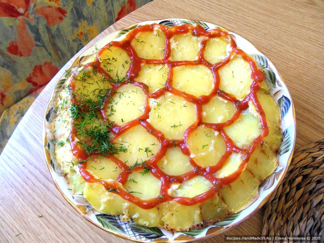 Картофельный пирог «Черепаха» – фото шаг 10