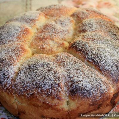 Дрожжевые пирожки с абрикосами «Ромашка», запечённые в форме – пошаговый рецепт с фото