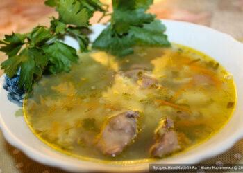 Суп из куриных потрошков – пошаговый кулинарный рецепт с фото