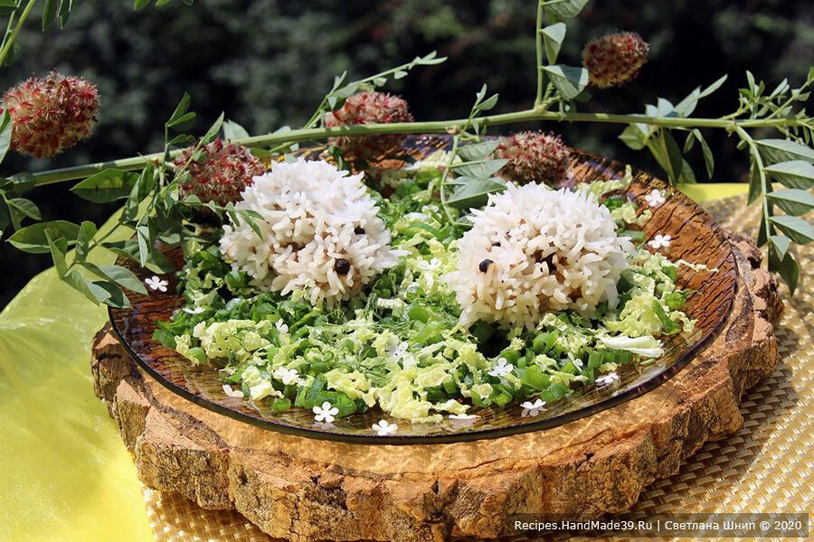 Как приготовить красивые ёжики с рисом в пароварке