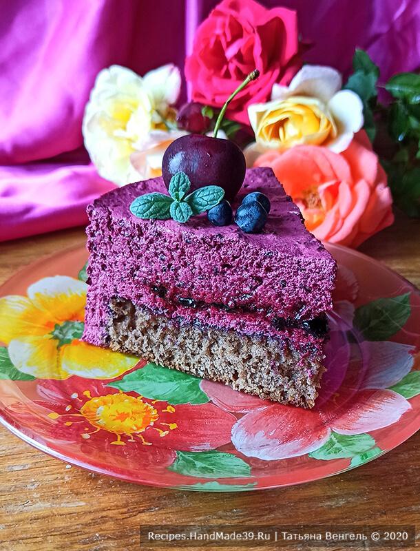 Торт с зефирным муссом – фото шаг 16. Оставить торт на ночь для стабилизации, приятного аппетита!