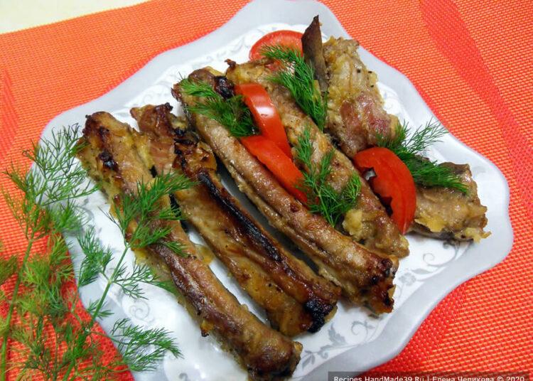 Рёбрышки в медовом соусе – пошаговый кулинарный рецепт с фото