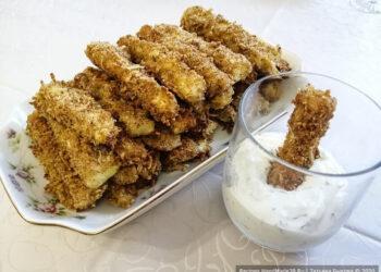 Хрустящие кабачковые палочки без масла, запечённые в духовке – пошаговый рецепт с фото