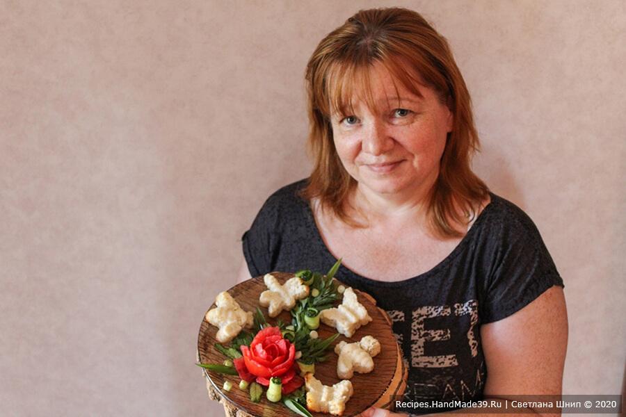 Автор рецепта Светлана Шнип с воздушным рыбым суфле