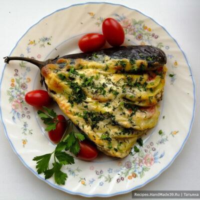 Веер из баклажанов – пошаговый кулинарный рецепт с фото