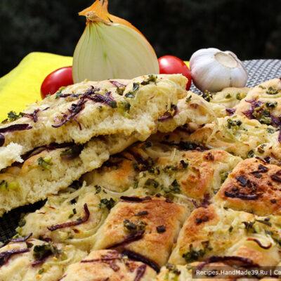 Фокачча с луком – пошаговый кулинарный рецепт с фото