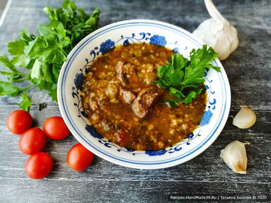 Суп харчо из говядины с рисом