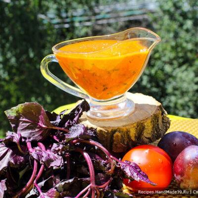 Томатно-сливовый соус – пошаговый кулинарный рецепт с фото
