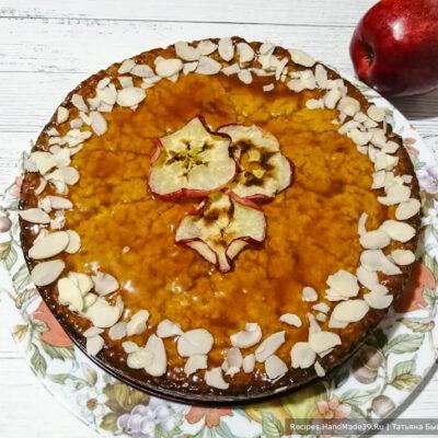Яблочный пирог с карамелью – пошаговый кулинарный рецепт с фото