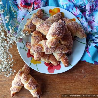 Творожные рогалики – пошаговый кулинарный рецепт с фото