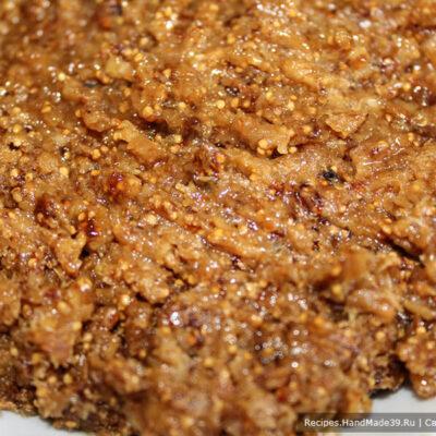 Печенье с инжиром – фото шаг 10. Измельчить массу в блендере