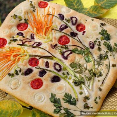 Фокачча с овощами – пошаговый кулинарный рецепт с фото