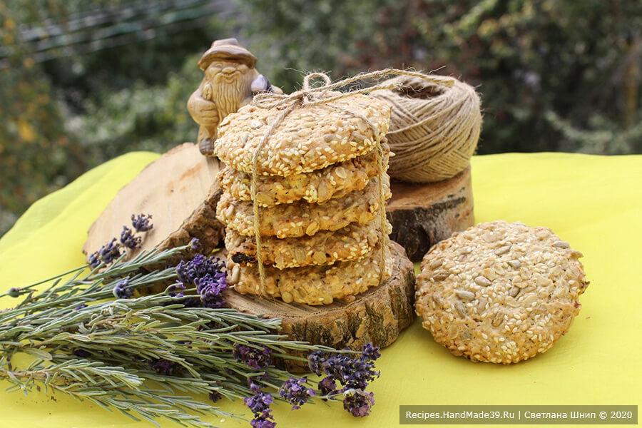 Овсяное печенье – фото шаг 12. Овсяное печенье выпекать 20-30 минут в духовке, разогретой до температуры 180 °C, до золотистого цвета. Приятного чаепития!