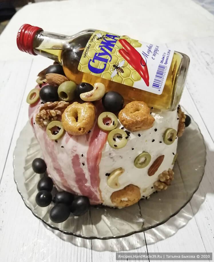 Несладкий торт для мужчины – фото шаг 9