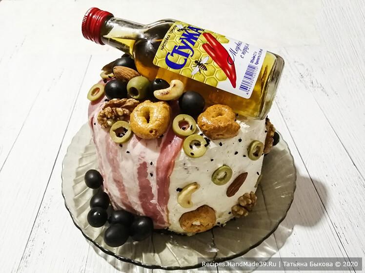Несладкий торт для мужчины – мастер-класс