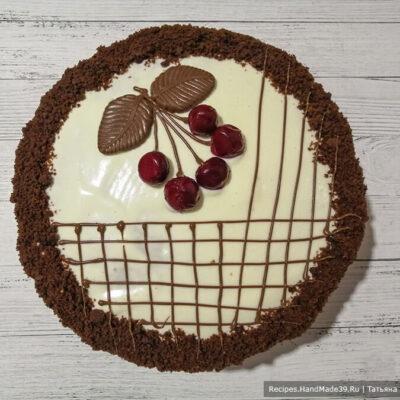 Шоколадный торт «Вишнёвый каприз» со сметанным кремом – пошаговый рецепт с фото