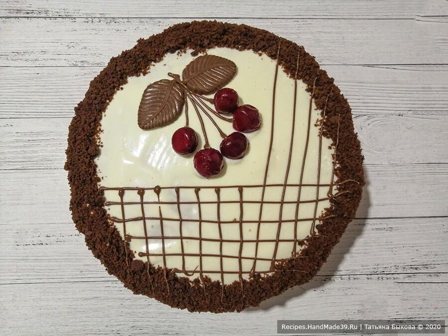 Шоколадный торт «Вишнёвый каприз» со сметанным кремом