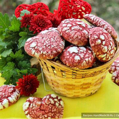 Печенье «Красный бархат» в форме сердца – пошаговый рецепт с фото