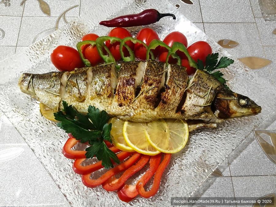 Рыба в медово-чесночном соусе