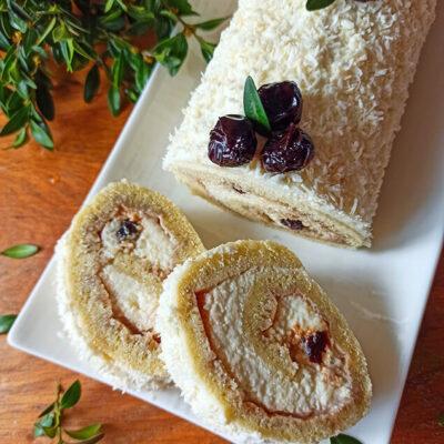 Бисквитный рулет с творожно-масляным кремом – пошаговый кулинарный рецепт с фото