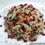 Грузинский салат «Ацецили» с курицей и баклажанами