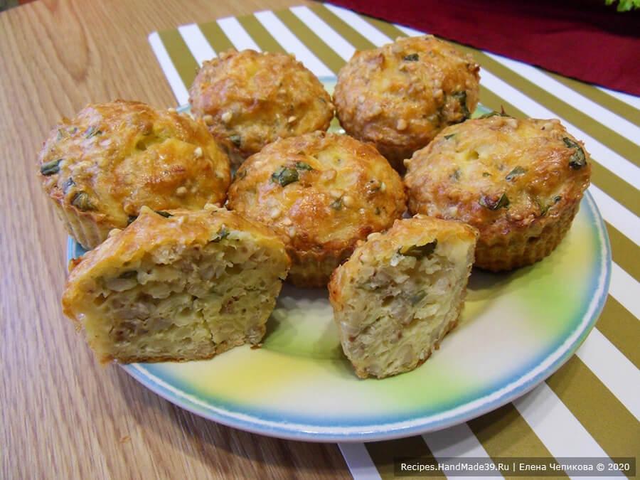 Кексы из зелёной гречки – фото шаг 9. Кексы из зелёной гречки вкусные и в горячем, и в холодном виде. Приятного аппетита!
