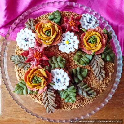 Бисквитный торт «Шоколад» с кремом из сгущёнки