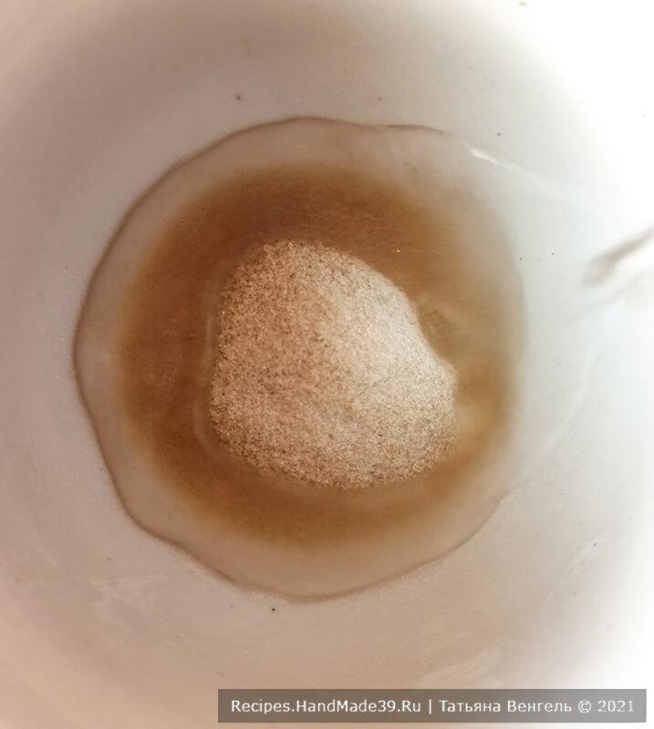 Торт «Птичье молоко» – фото шаг 1. Желатин замочить в воде (50 мл), дать набухнуть