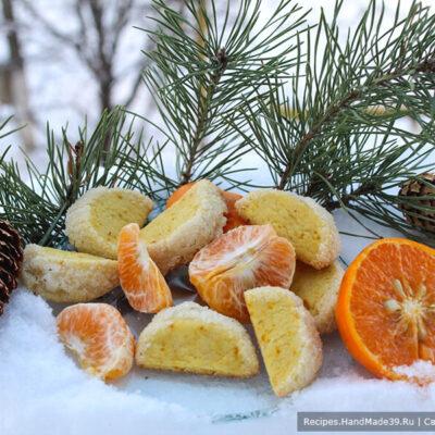 Печенье «Мандариновые дольки» – экспресс-выпечка к чаю