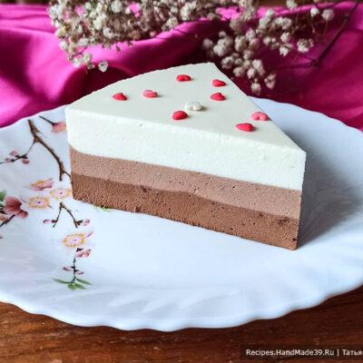 Муссовый торт «Три шоколада» – пошаговый кулинарный рецепт с фото