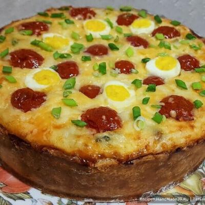 Киш с картофельным пюре, рыбой и шпинатом – пошаговый рецепт с фото