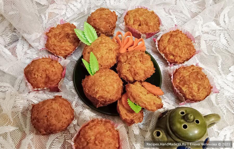 Морковное печенье – фото шаг 7. Выпекать морковное печенье 20 минут в духовке, разогретой до температуры 200 °С. Приятного аппетита!