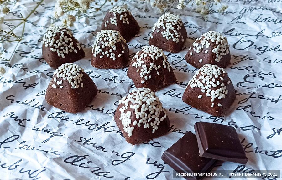 Халва шоколадная из семечек и арахиса
