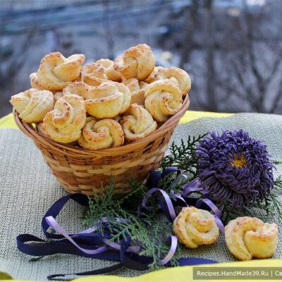 Творожное печенье «Розочки» – пошаговый кулинарный рецепт с фото