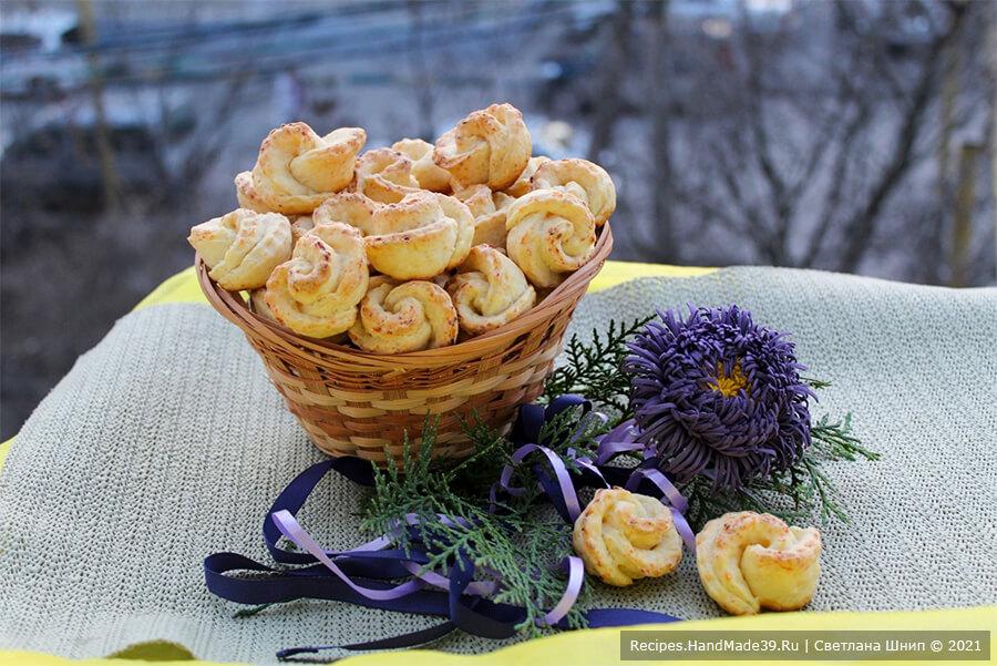 Мягкое творожное печенье «Розочки»