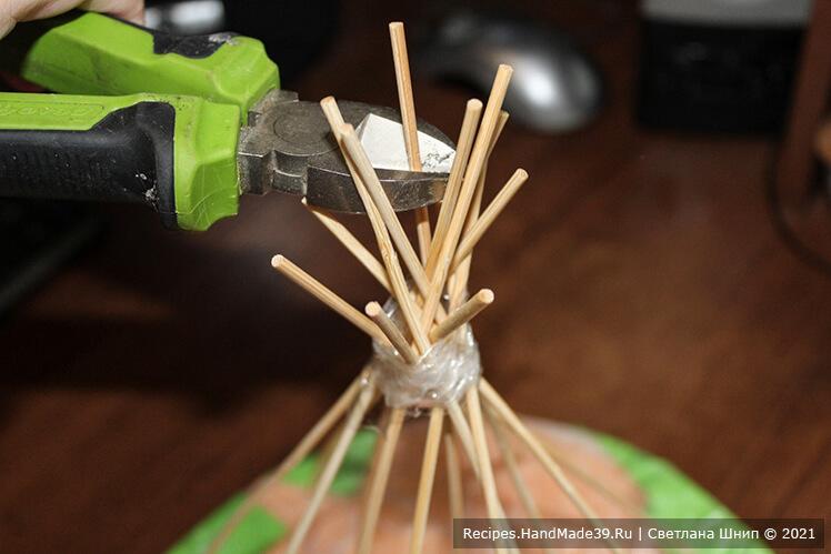 Как сделать букет из зефира – фото шаг 9