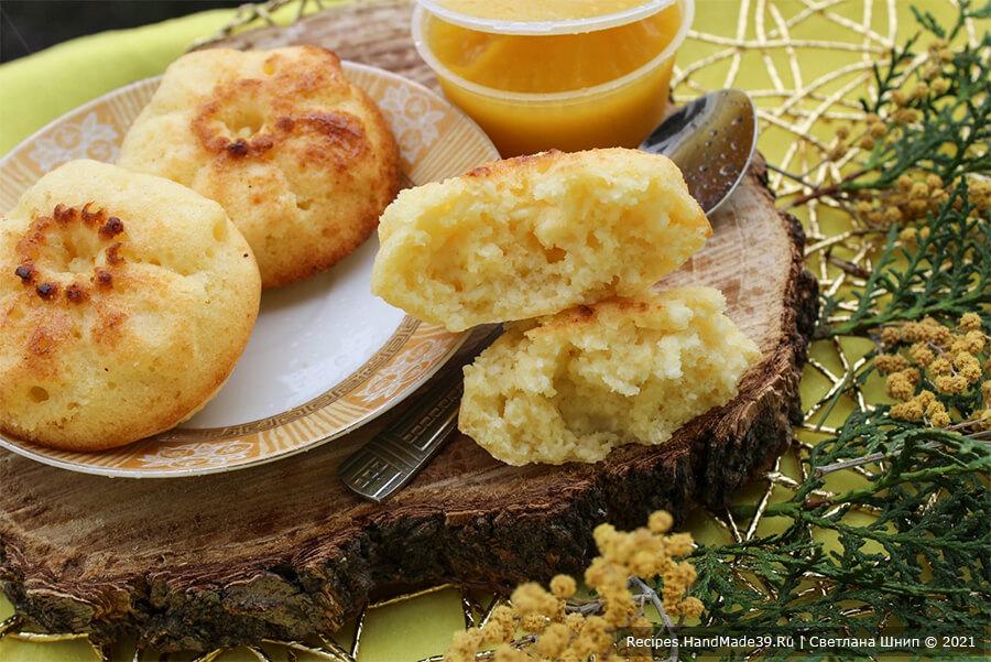 Сырники без муки в духовке – фото шаг 12. Сырники получаются очень вкусные! Приятного аппетита!