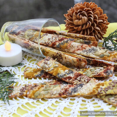 Галетные хлебцы с пряностями и семенами – пошаговый рецепт с фото