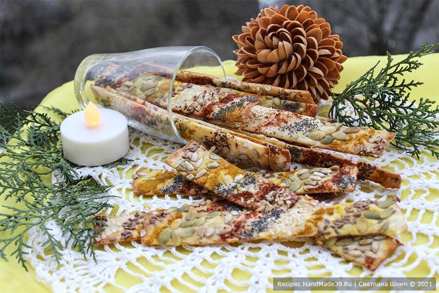 Галетные хлебцы с пряностями и семенами