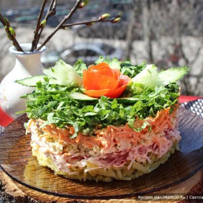 Салат с редькой и редисом